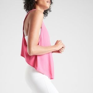 NWT athleta Pink workout High Low tank top  Medium
